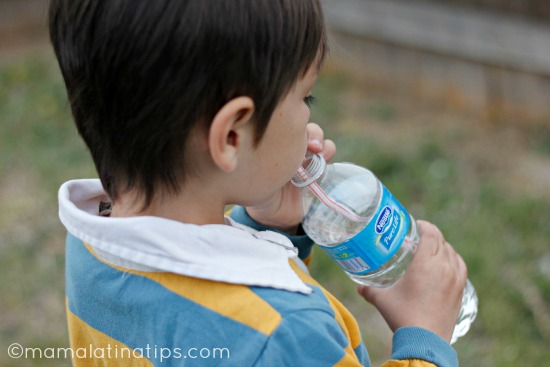 Kid drinking water
