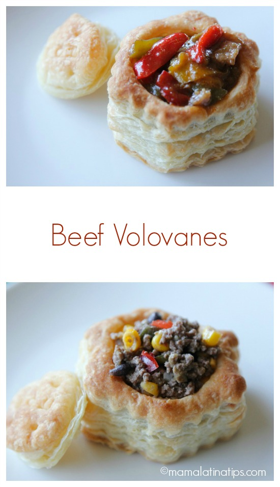 Beef Volovanes: Southwest Picadillo and Beef & Broccoli