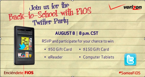 Back to School Twitter Party with Verizon FiOS