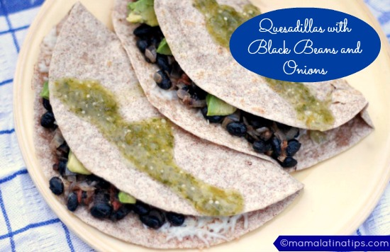Quesadillas with Black Beans and Onions