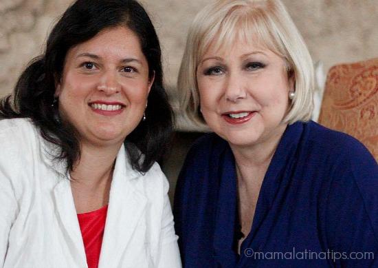Cristina Saralegui con Silvia Martinez mamalatinatips