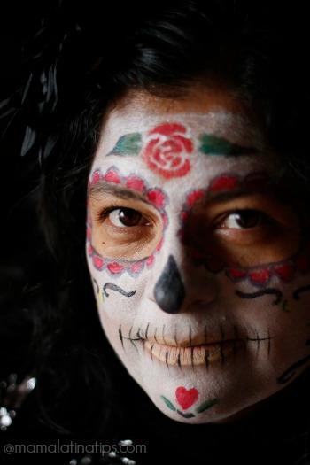 La Catrina makeup mamalatinatips