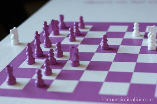 Pink chess pieces - mamalatinatips.com