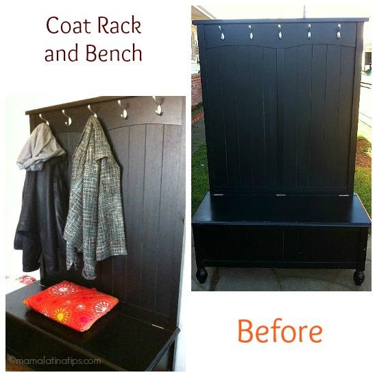 Coat Rack and Bench Expresso Brown - mamalatinatips.com