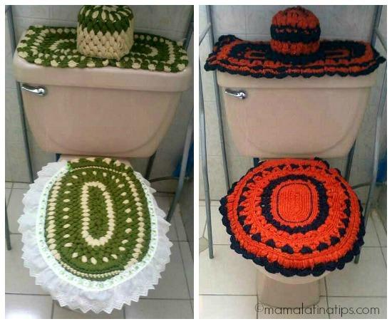 juegos de baño tejidos - mamalatinatips.com