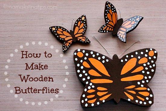 Wooden butterflies - mamalatinatips.com