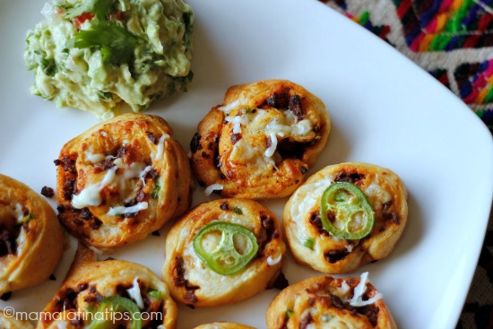 Spicy Pinwheels with Cheese and Chorizo