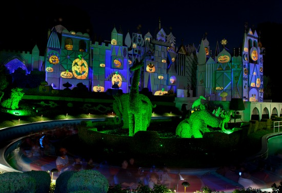 it's a small world in Halloween Time at Disneyland