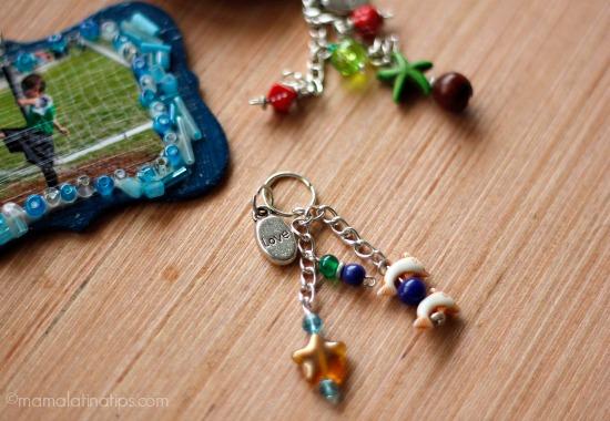Inserting charms - christmas ornaments -diy