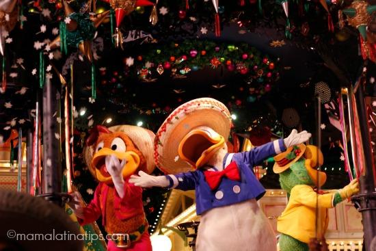 Los Tres Caballeros en Disney Viva Navidad