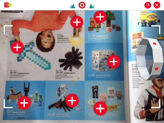 How to add toys form the catalog to the Target wish list app