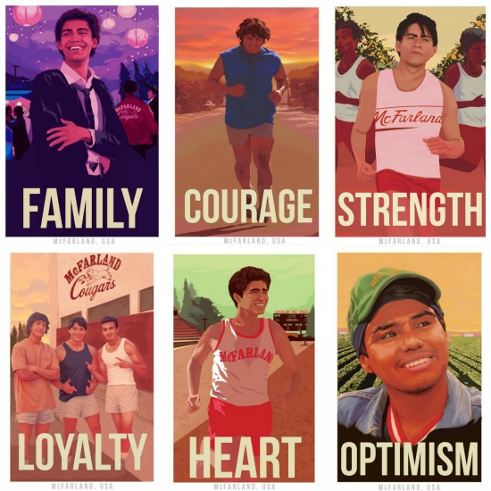 Collage de posters de McFarland USA