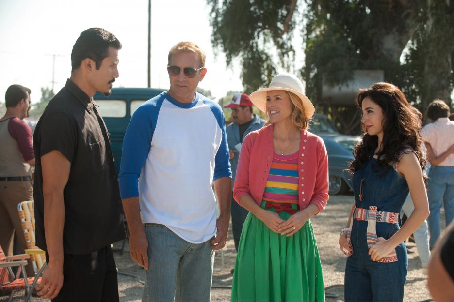 Maria Bello and Kevin Costner on McFarland USA
