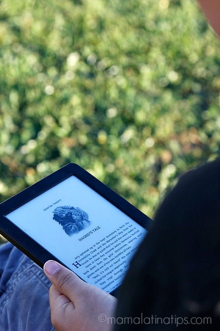 Reading Harry Potter on the Kindle