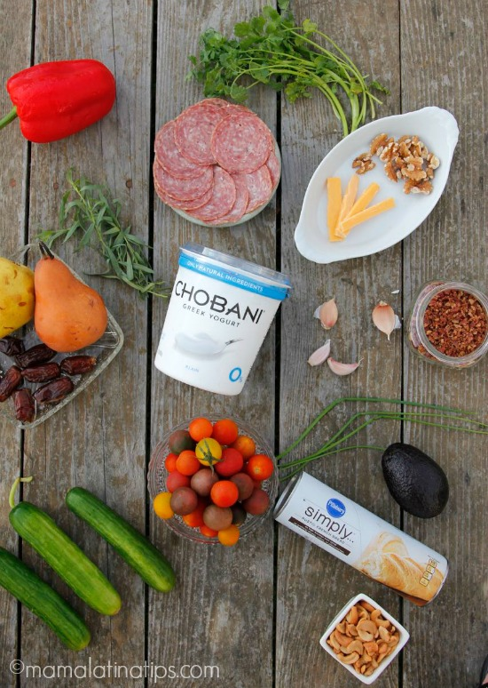 Chobani yogurt + ingredients to make crostini by mamalatinatips