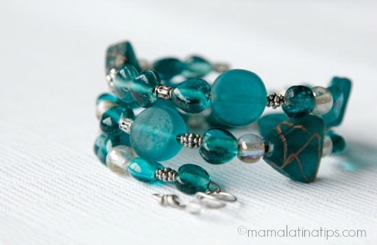 DIY green memory bracelet
