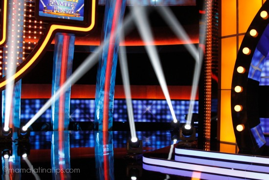 Stage of Celebrity Family Feud - mamalatinatips.com