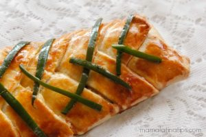 Braided pastry with soy sauce