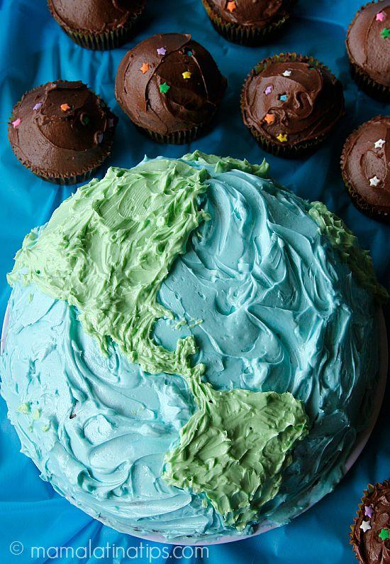 Lemon cake and chocolate cupcakes