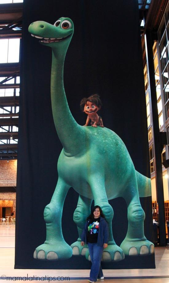 Silvia with Arlo at Pixar