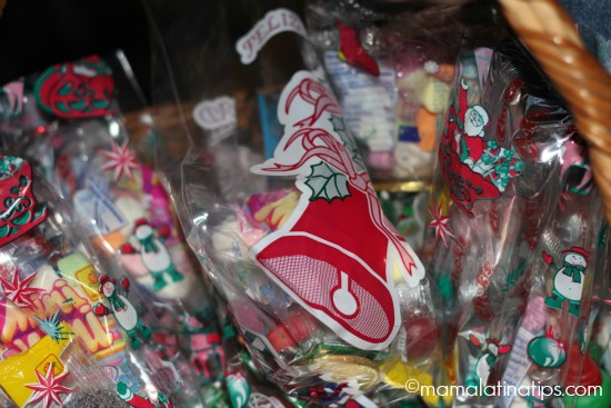 christmas bags with candy