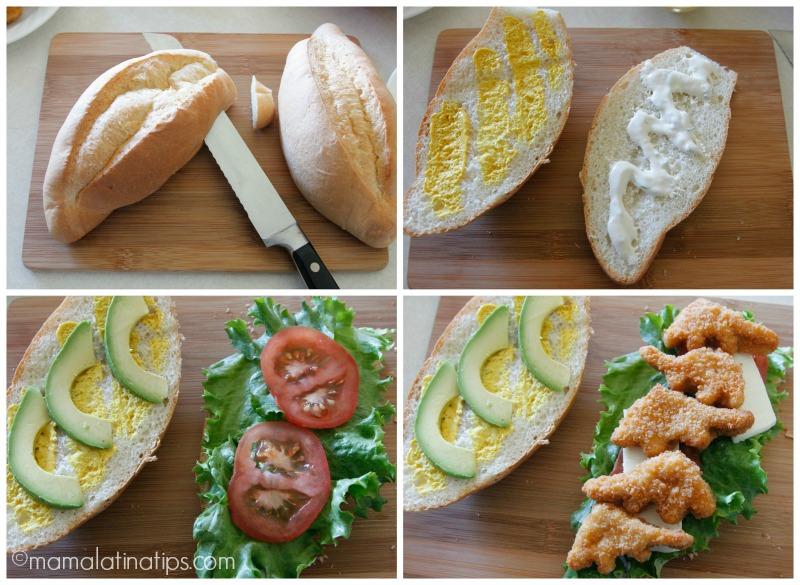How to make a chicken nugget torta - mamalatinatips.com