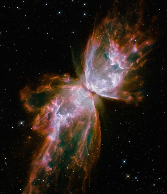 A dead star photo taken by the Hubble Telescope