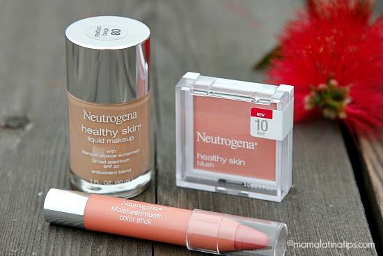Neutrogena makeup, blush and lipstick - mamalatinatips.com