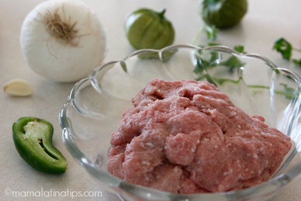 Ground turkey meat - mamalatinatips.com
