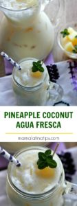 pineapple coconut agua fresca