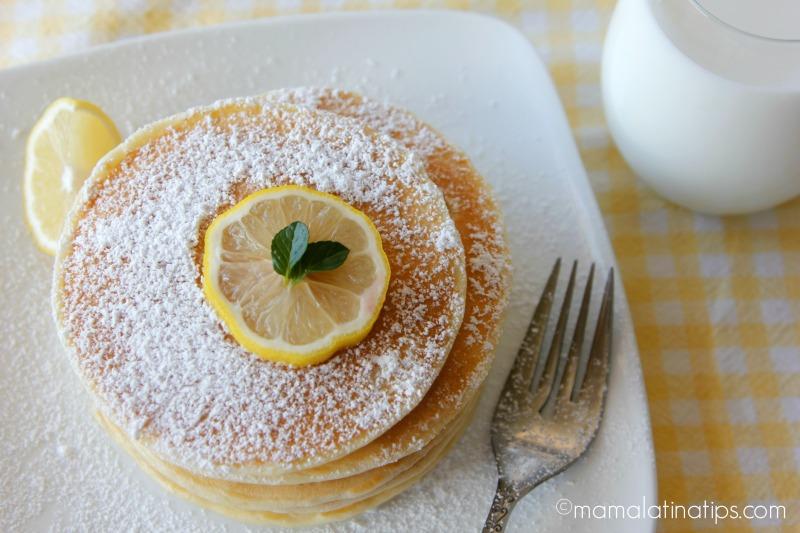 Lemon Pancakes - mamalatinatips.com