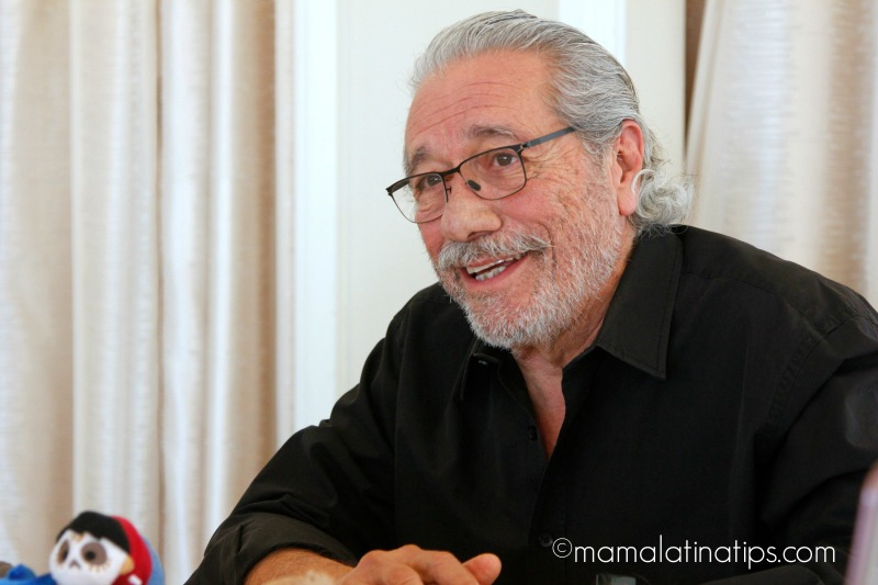 Edward James Olmos as Chicharrón in Coco - mamalatinatips.com