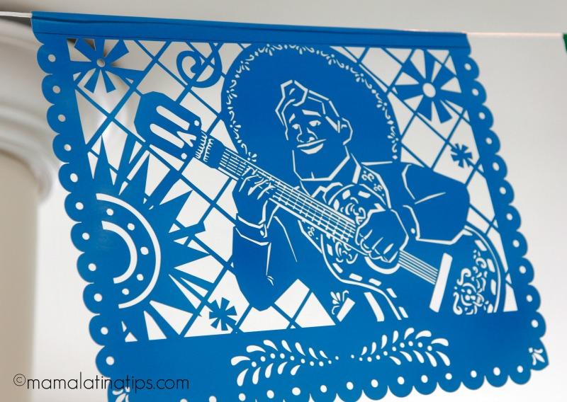 Ernesto de la Cruz in papel picado - mamalatinatips.com