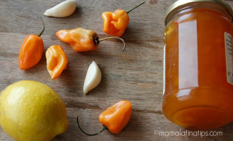 Limón, habaneros, ajos y mermelada de chabacano - mamalatinatips.com