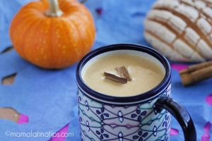 Pumpkin atole with conchas