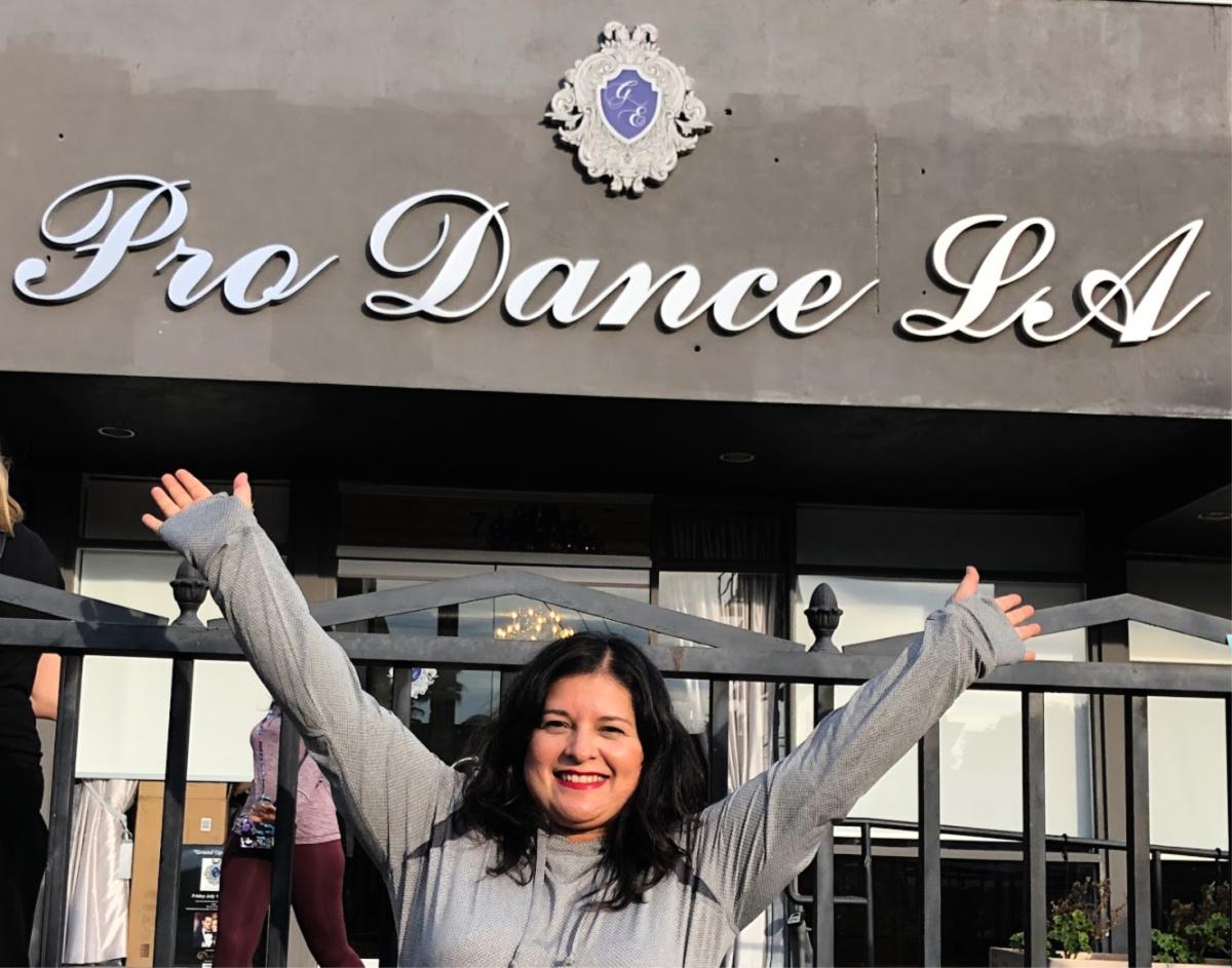 Silvia Martinez outside Pro Dance LA