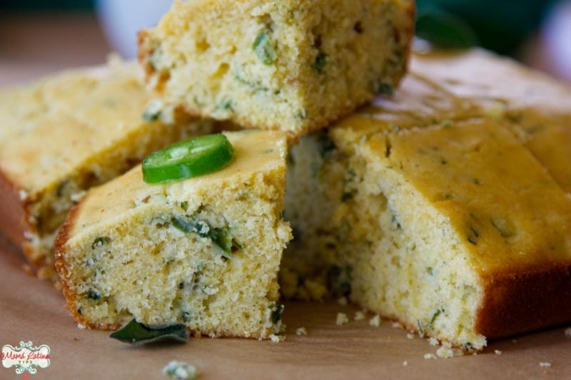 herbed jalapeño cornbread squares