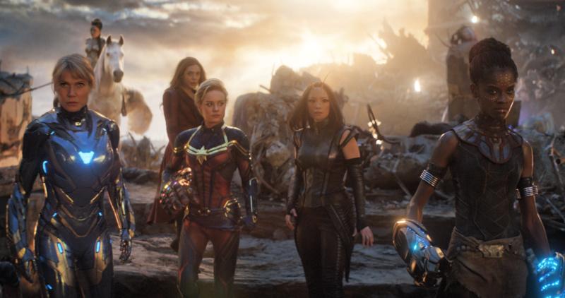 Scene of Avengers Endgame. The women of MCU