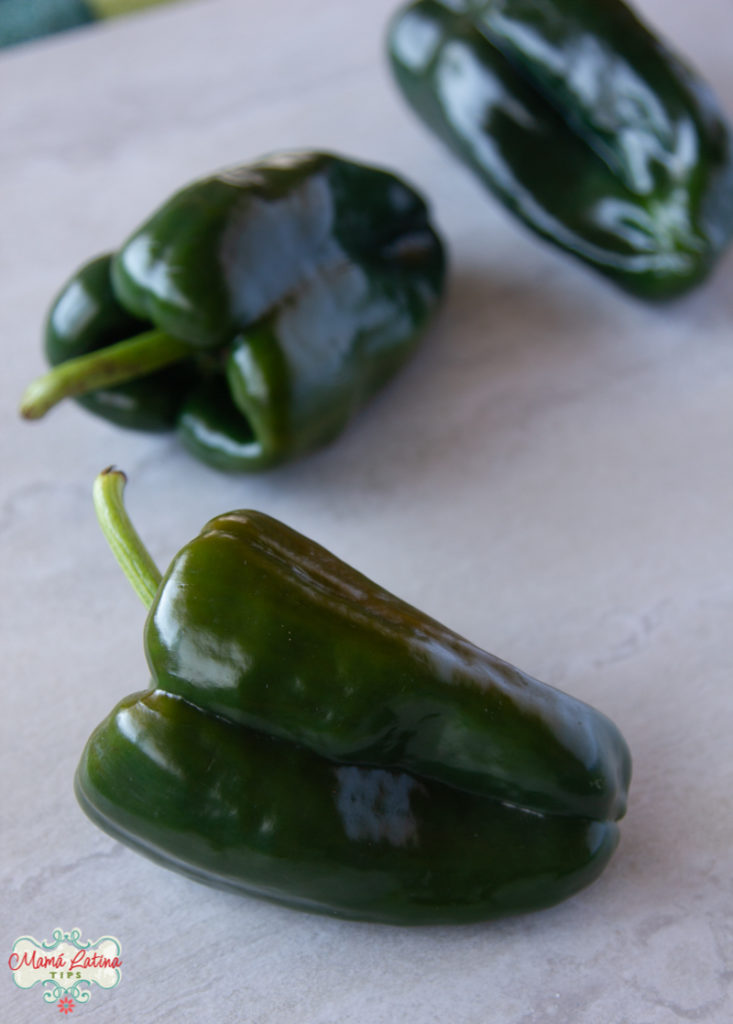 3 poblano peppers