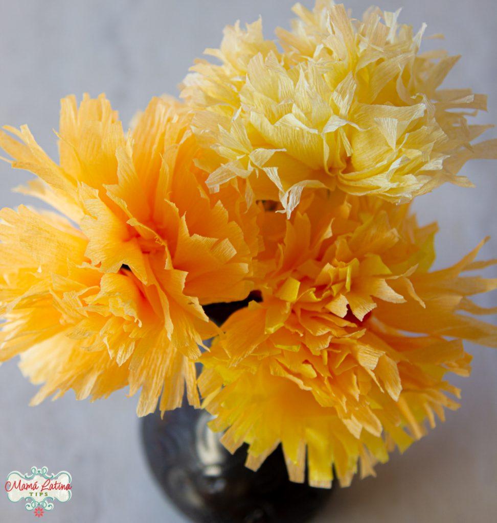 Cómo Hacer Flores de Cempasúchil de Papel