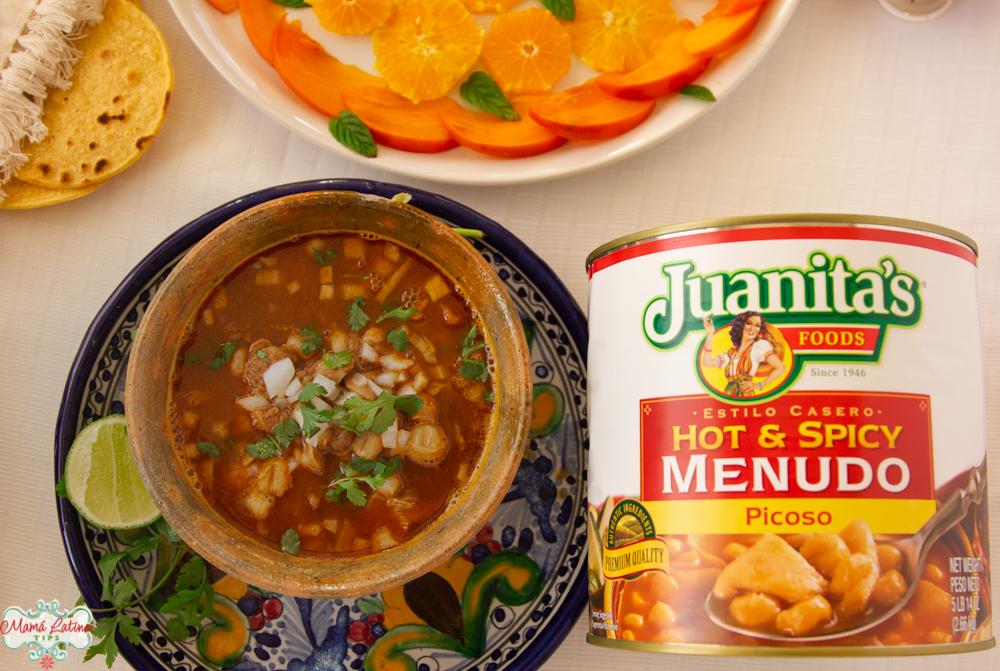 Lata de Juanita's menudo hot & spicy
